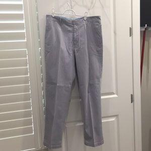 J. Crew Men's Blue Seersucker Pants 36x32